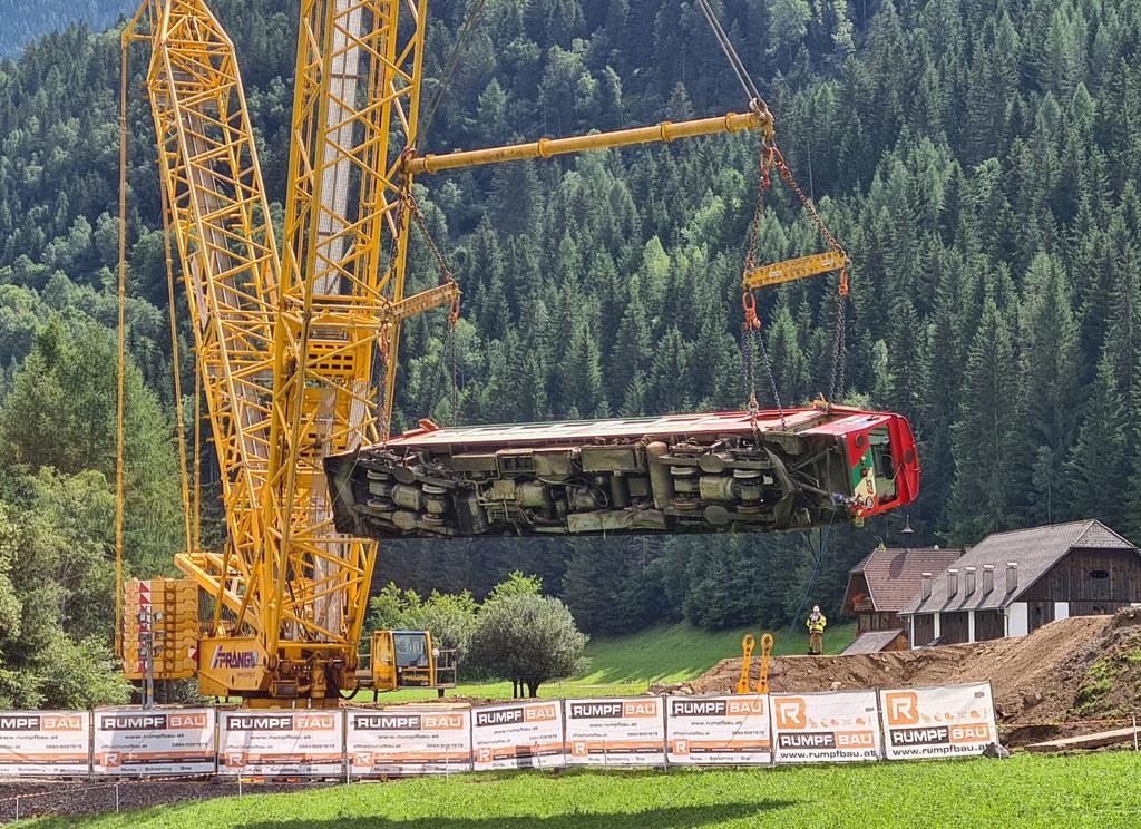 Komplizierte Bergung der Murtalbahn abgeschlossen