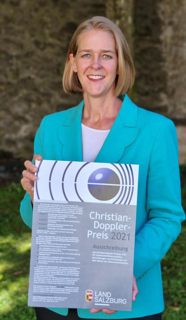 """""""Das Interesse liegt heuer auf Rekordniveau. 23 Forscherinnen und Forscher haben für den Christian-Doppler-Preis eingereicht, so viele wie noch nie"""", so LR Andrea Klambauer."""