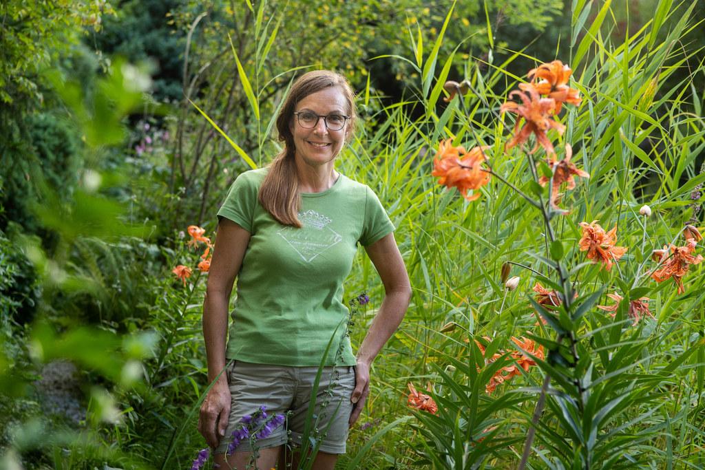 """""""Die Gartenarbeit ist für mich ein schöner Ausgleich zum Klinikalltag"""", so die Krankenschwester."""