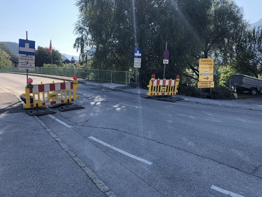 Die Zufahrt zur Gollinger Salzachsiedlung ist ab 13. September nicht mehr über die Salzachbrücke möglich.