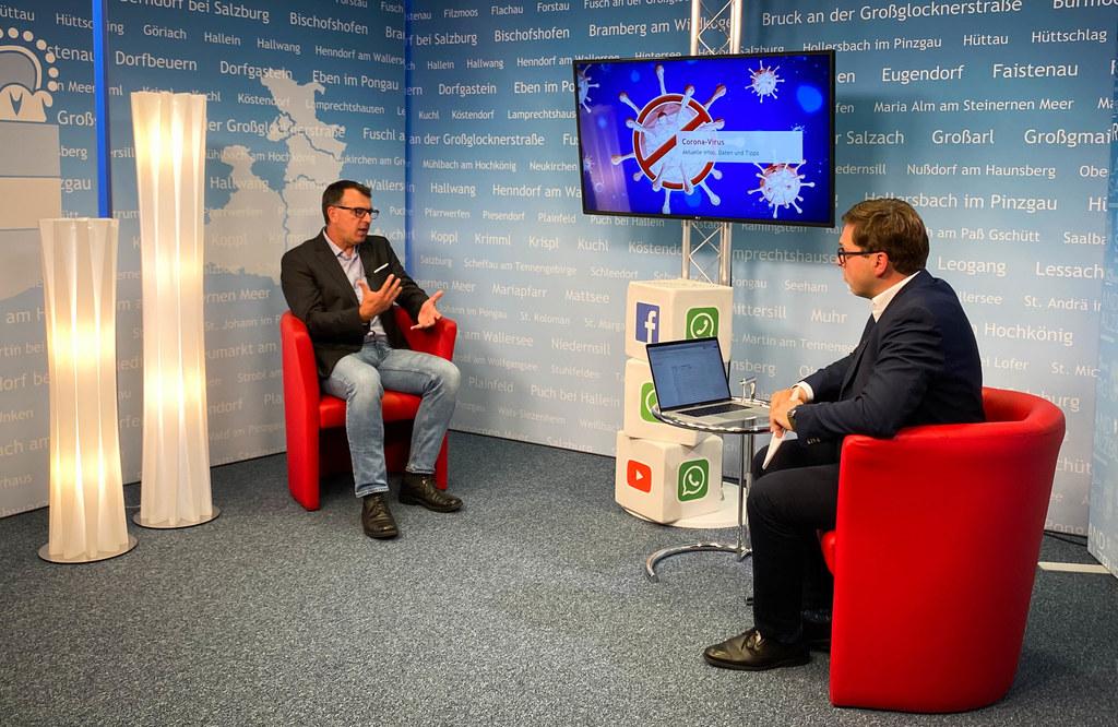 Dr. Rainer Pusch, Impfkoordinator des Landes, beantwortete zahlreiche Fragen zur Corona-Impfung. Im Fokus stand vor allem die Schutzimpfung für die jungen Salzburgerinnen und Salzburger.