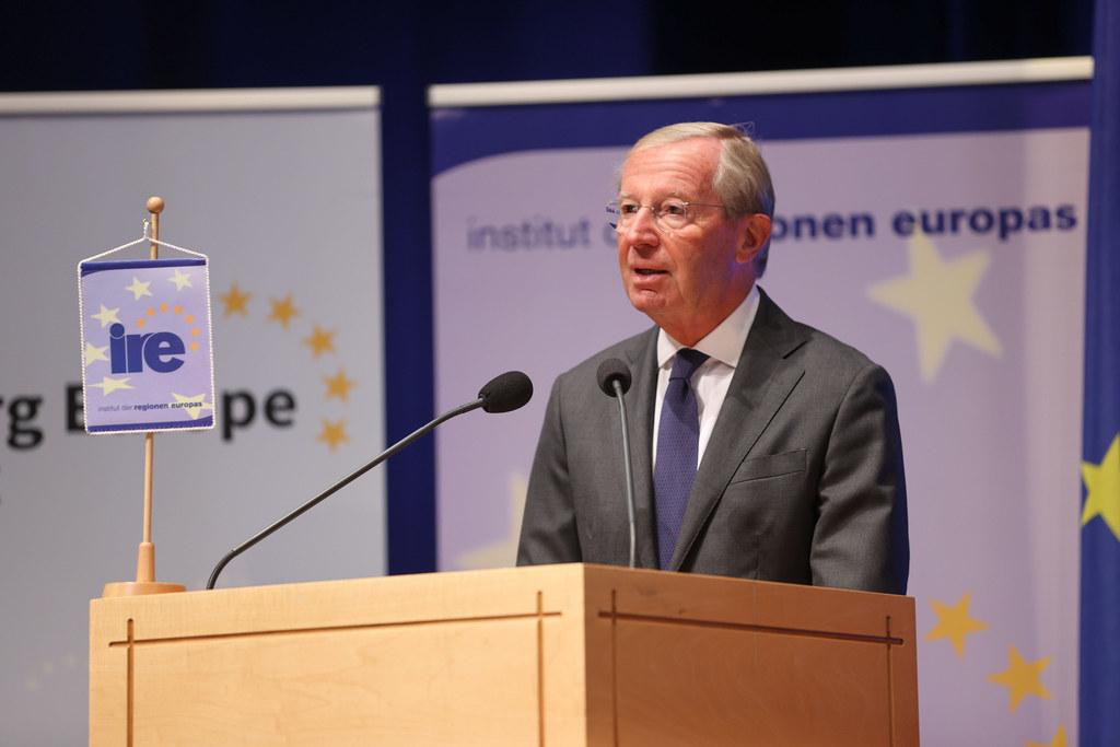 """LH Wilfried Haslauer bei der Eröffnung des European Salzburg Summit: """"Europa muss – und wird – das Comeback schaffen."""""""