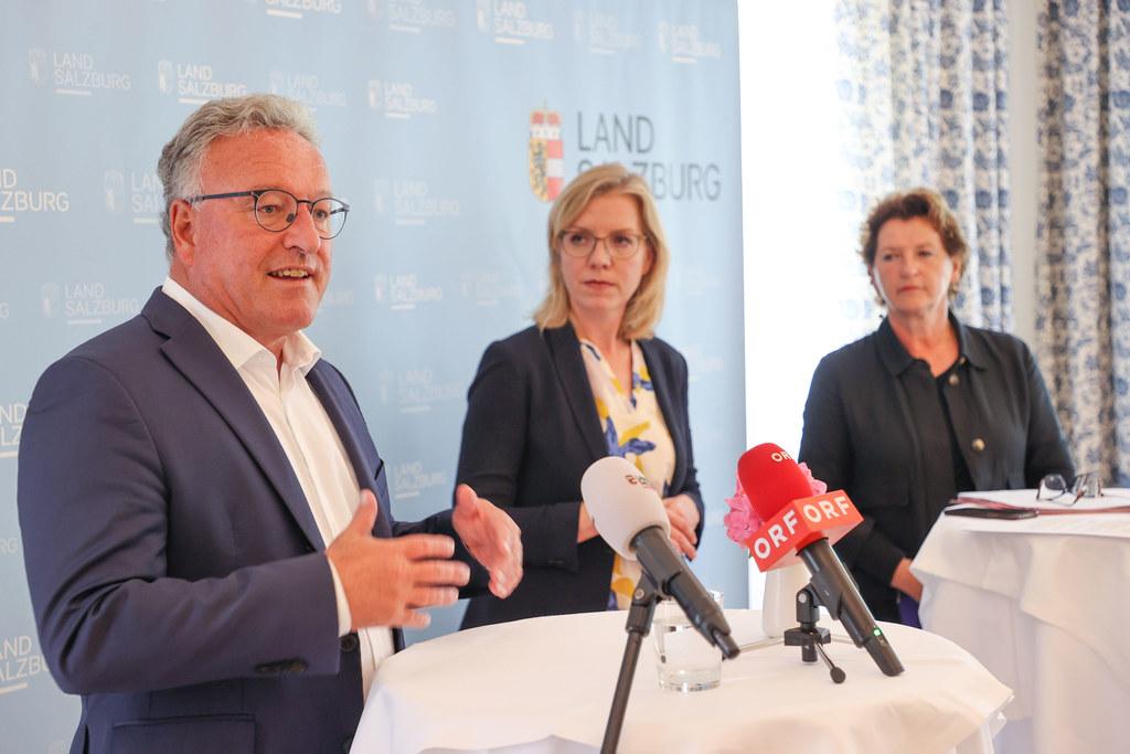 LH-Stv. Heinrich Schellhorn mit BM Leonore Gewessler und LR Ursula Lackner (Steiermark).